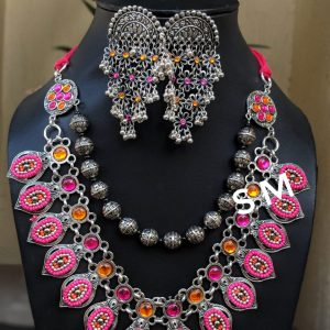 AFGHANI GLASS STONES STUDDED NECKLACE