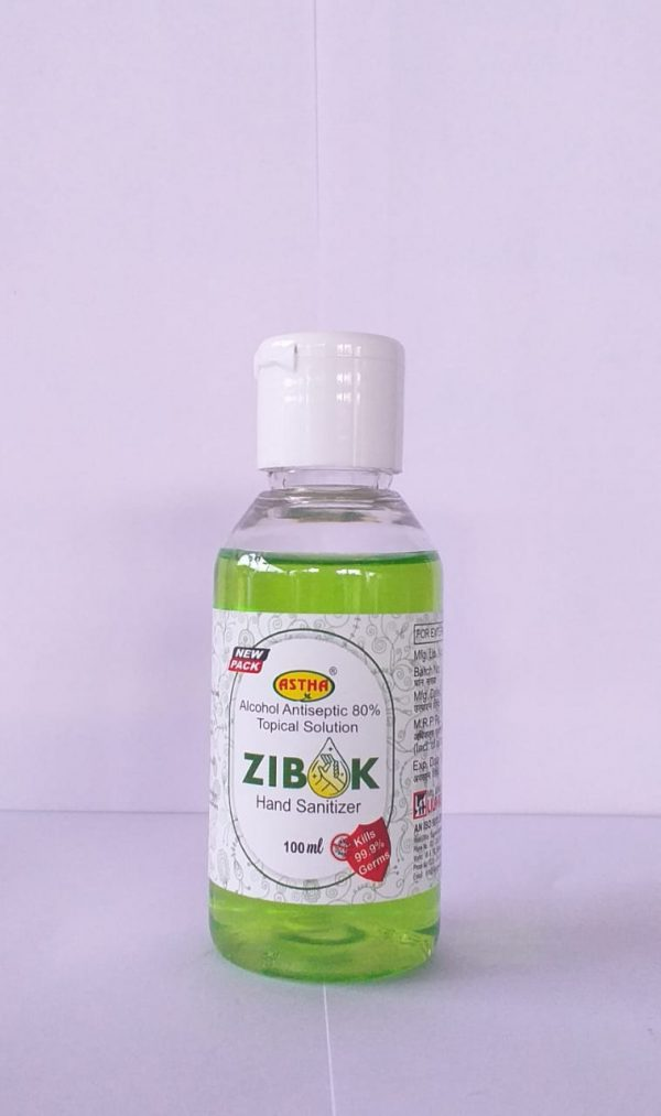 Zibok hand sanitizers From the House of - Astha 100ml